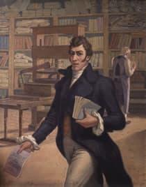 Antonio Nariño en su Imprenta Patriótica