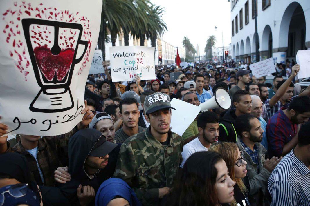 Manifestación en Rabat como homenaje al pescadero Mouhcine Fikri (30/10/2016)