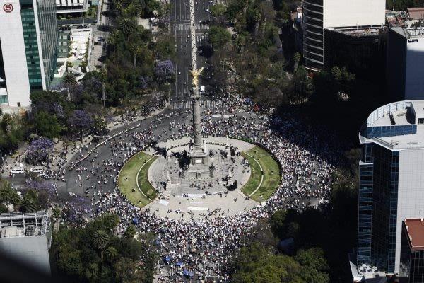 Marcha contra Trump en la Ciudad de México